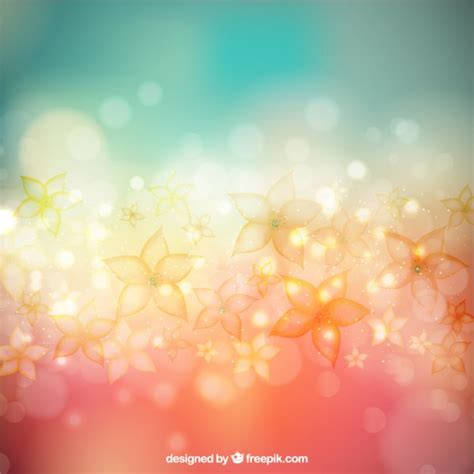 style flower flowers background in bokeh style vector free