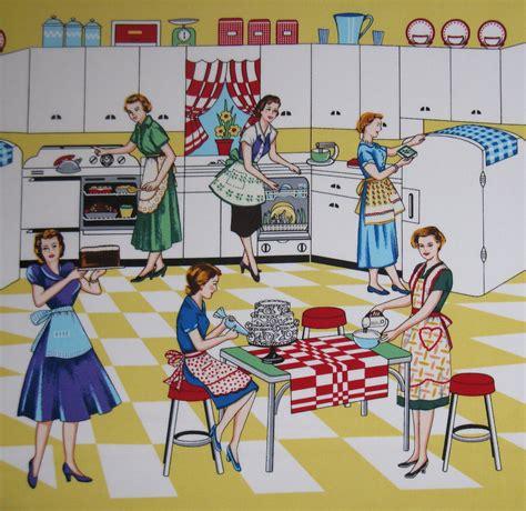 Retro Kitchen Fabric by Michael Miller Retro Kitchen Fabric Home Ec Yardage