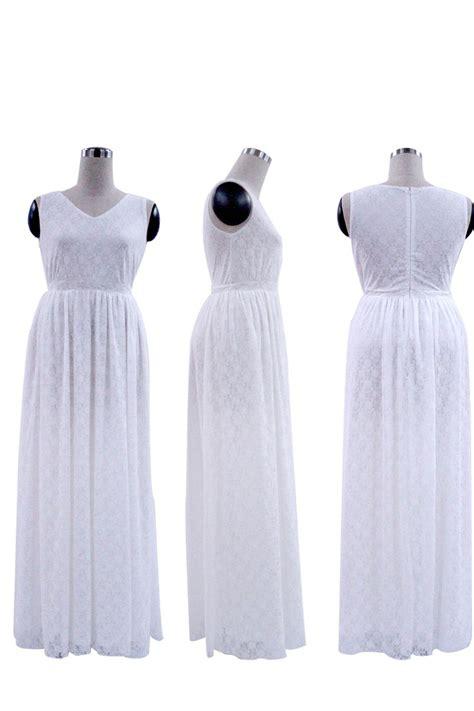 V Neck Sleeveless White kettymore wedding sleeveless v neck plus size dress