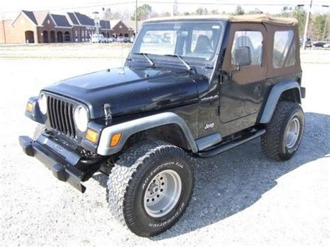 Used 1998 Jeep Wrangler Sell Used 1998 Jeep Wrangler Se 4x4 No Reserve In