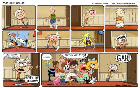 the loud house the loud house comic by miguel puga colored by diem doan nickelodeon animation studio