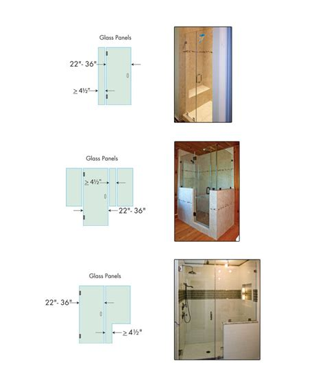 Minimum Shower Door Width Tip 7 Minimum Width Of Glass Panels Shower Doors Design Tips