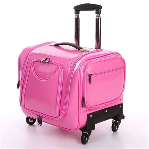 beautiful suitcases hot sale 2015 new fashion women nylon leather trolley