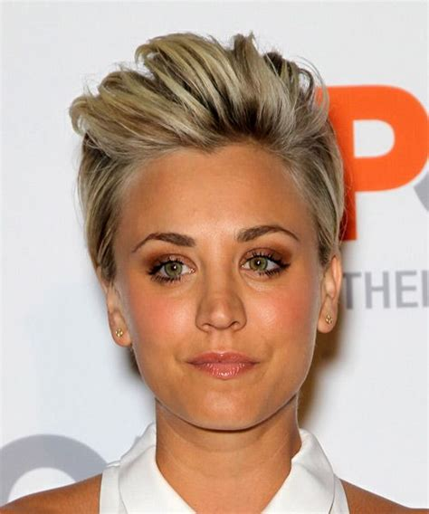 how to cut your hair short like kaley cucoa kaley cuoco medium blonde and short straight hairstyles