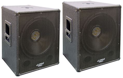 Speaker Fabulous 18 Inch 2000 Watt 2 pro audio pyle pasw18 dj passive 2000 watts 18 quot cabinet subwoofer pair package pyle package20