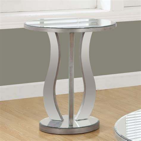 contemporary accent table esme contemporary end table mirrored glass pedestal tables