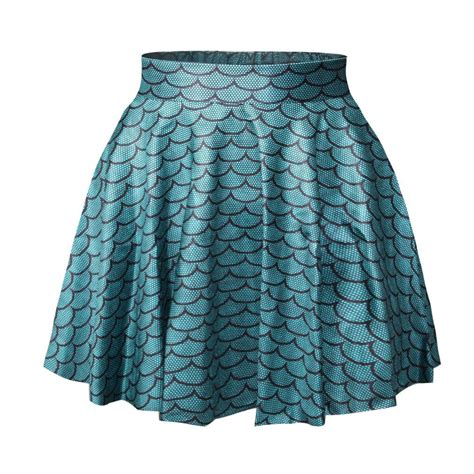 cute patterned skirts pleated skirt waist high fish scale pattern cute summer