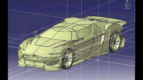 tutorial car design in catia v5 part 1 citroen gt catia v5 car politecnica sevilla youtube