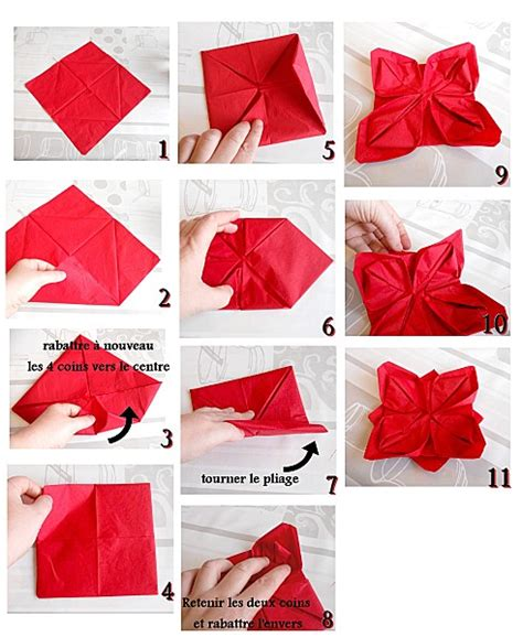 Serviette Origami - diy pliage serviette lotus d 233 co de table pliage pour