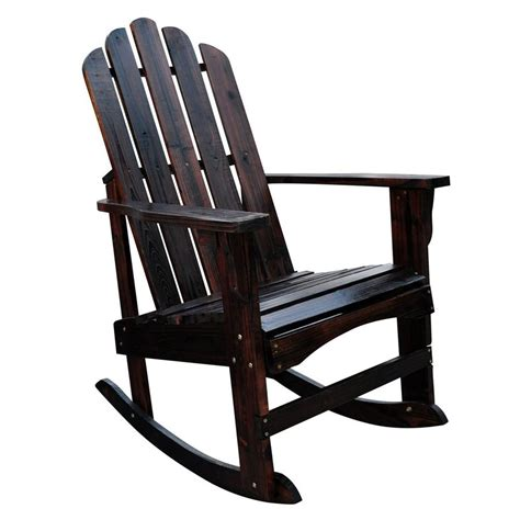 Rocking Patio Chairs Shop Shine Company Marina Burnt Brown Cedar Patio Rocking Chair At Lowes