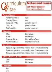 new curriculum vitae format 2016 resume template example