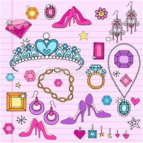 doodle name princess princess tiara accessories notebook doodles vector set