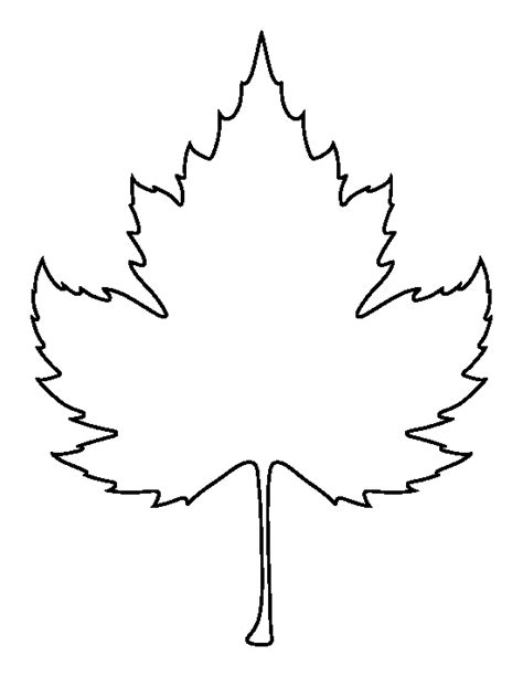printable leaves pdf sycamore leaf pattern use the printable outline for