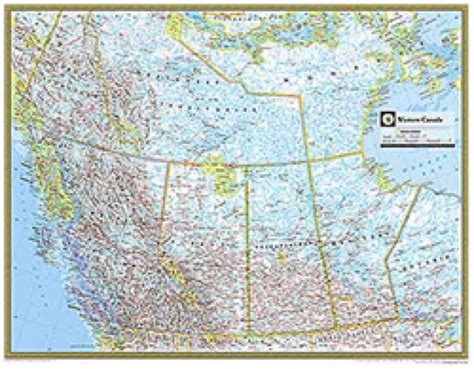 road map western canada and usa western canada atlas wall map maps
