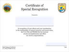 Certificate Of Recognition Templates by Sle Certificate Of Recognition Template 21 Documents