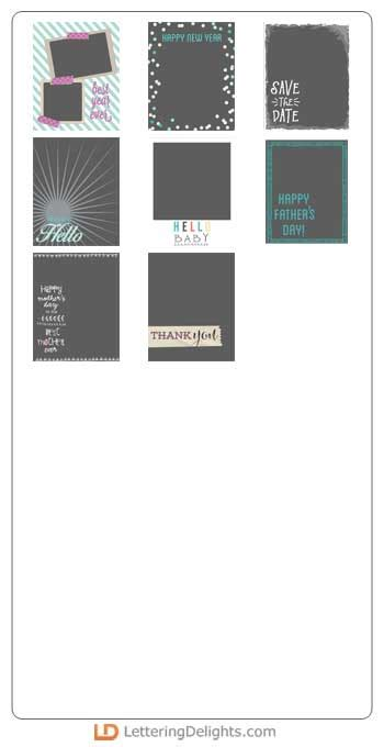 5x6 5 card template photocard favs templates 7 5x6 gs