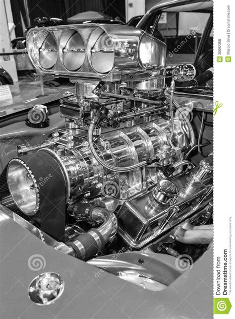 American Muscle Car's Engine Stock Photo - Image: 30092358