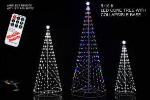 remote control outdoor led cone tree