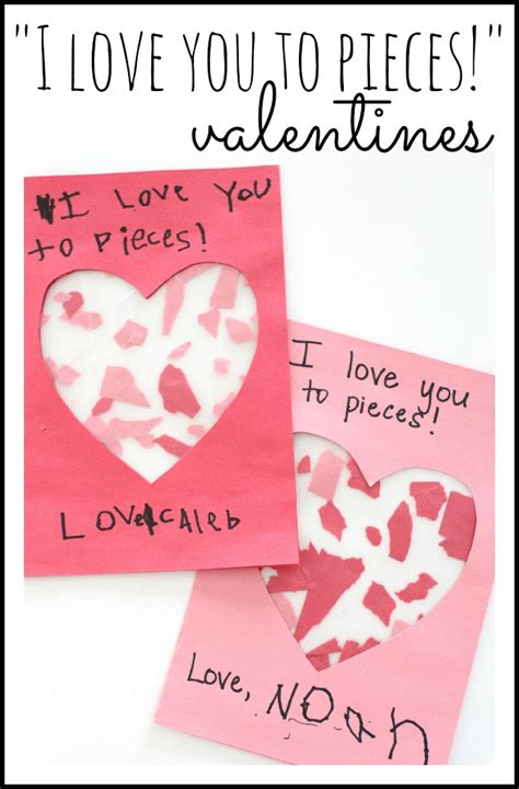 valentines day gifts for parents quot i you to pieces quot valentines craft