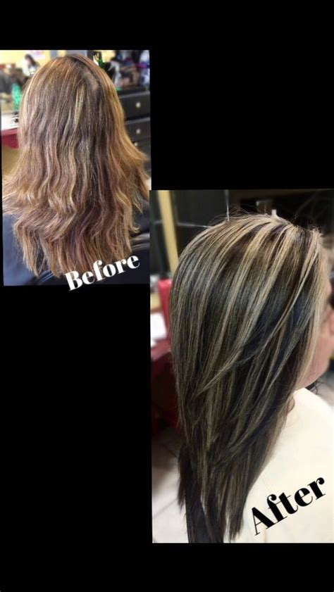 platinum highlights on dark brown hair dark brown with platinum highlights my hairstyles