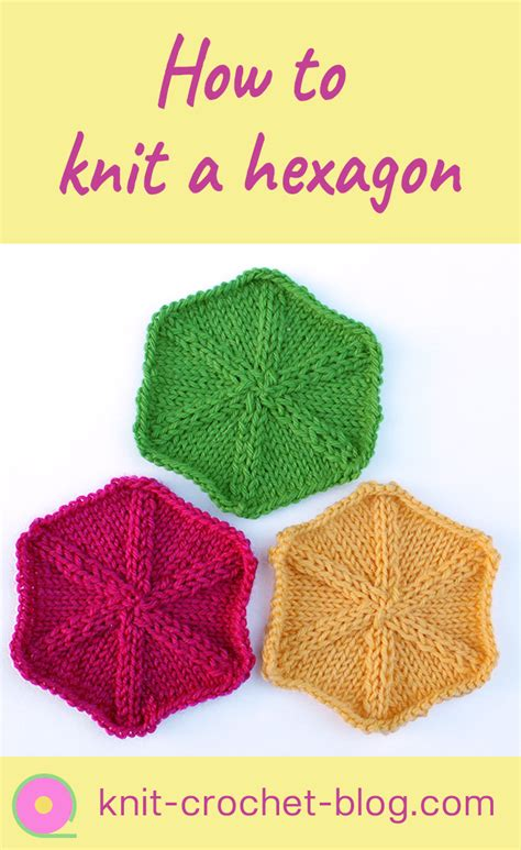 knit blogs knitting hexagons knit crochet