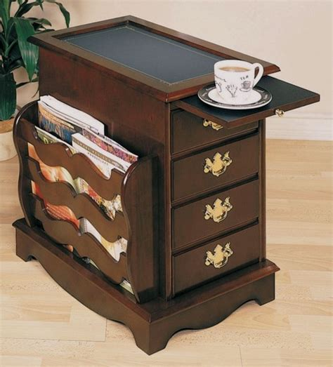 Magazine Tables With Drawers by How Many Drawers Does This Table What S Magazine Rack Inside