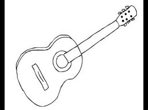 easy guitar book sketch how to draw acoustic guitar easy for beginners