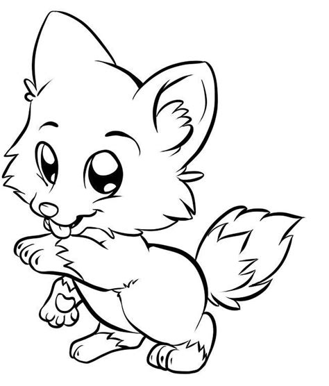 Cartoon Fox Coloring Page | cartoon picture of a fox cliparts co