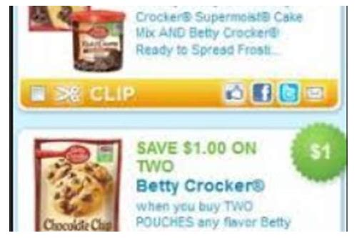 betty crocker coupons by mail