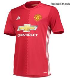 Manchester United Chevrolet Jersey New Manchester United Home Jersey 2016 2017 Football Kit