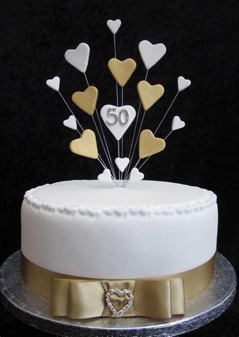 50th Golden Wedding Anniversary/Birthday Cake Topper