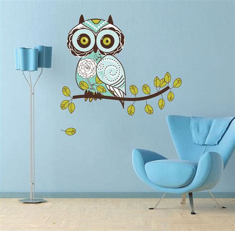 owl design wall decal animal wall decal murals primedecals