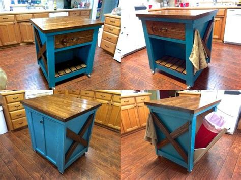 ana white gaby kitchen island diy projects kitchen island with trash bin do it yourself home