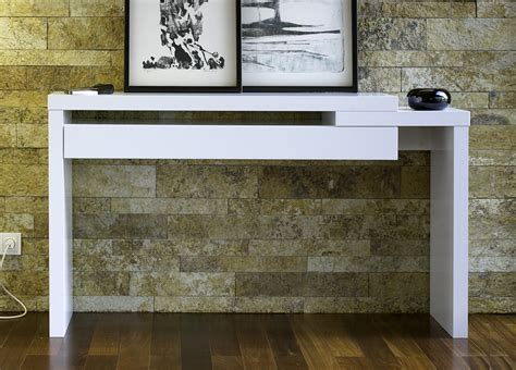 Modern White Console Table With Drawers by Console Table Design Wooden Console Table