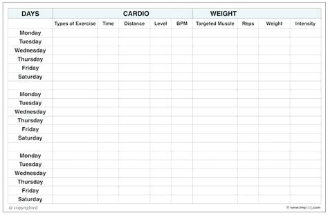 blank workout log template blank workout log excel free template circuit