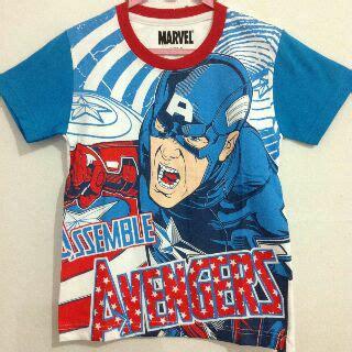 Grosir Baju Captain America 2 baju anak avenger captain america biru 1 6 grosir