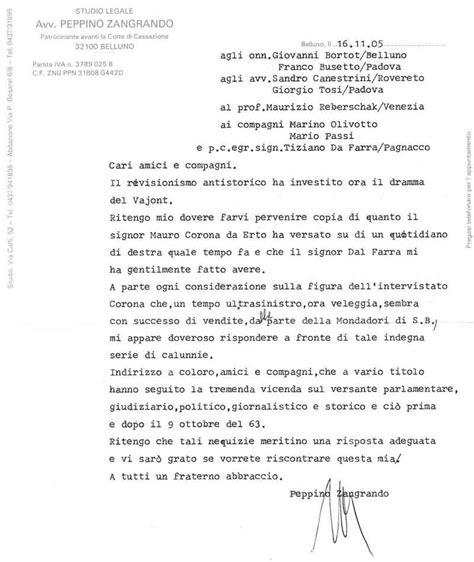 lettere legali dall avvocato peppino zangrando comunista