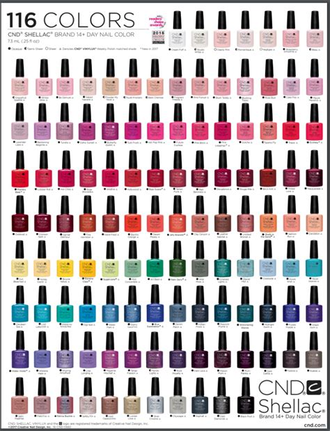 shellac colors chart the shellac nail colors to try in 2019
