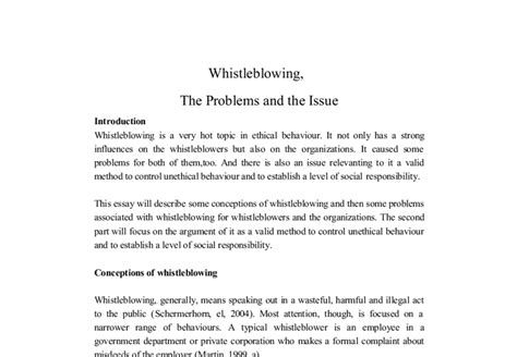 whistleblowing research paper whistleblower essay cardiacthesis x fc2