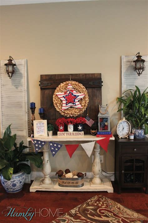 patriotic decor for home my budget friendly patriotic vignette the hamby home
