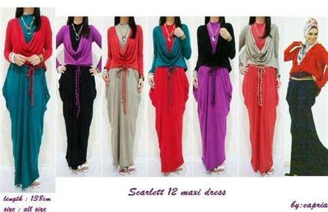 Busana Muslim Maxi Batik Cardi dinomarket 174 pasardino grosir 12 maxi dress