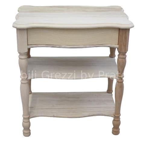 comodini legno grezzo comodini grezzi