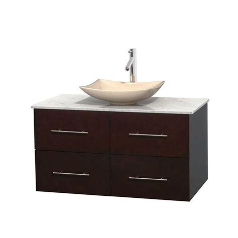 42 Vanity Top by Wyndham Collection Centra 42 In Vanity In Espresso With Marble Vanity Top In Carrara White And