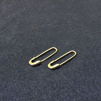 Safety Pin Statement Earrings shop safety pin earring on wanelo