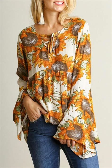 Sunflower Top umgee usa sunflower boho top from by