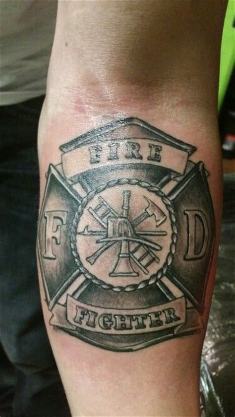 fire cross tattoos maltese firefighter cross forearm personal