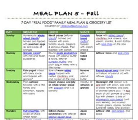 meal plan 5 fall