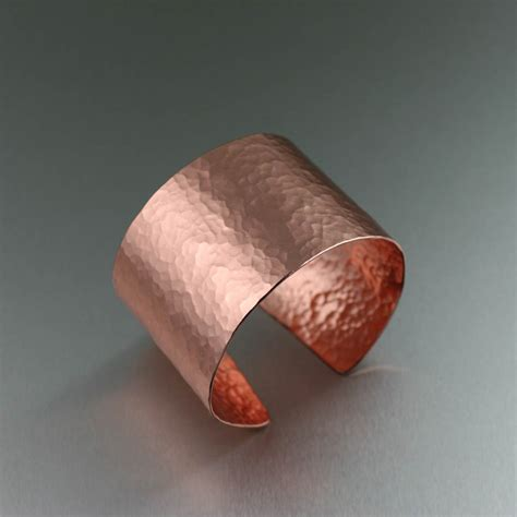 Copper Handmade - hammered copper handmade cuff