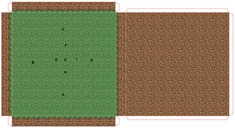 Minecraft Grass Block Papercraft - papercraft hunger arena 1