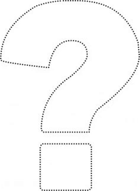printable question mark template question mark pattern use the printable outline for